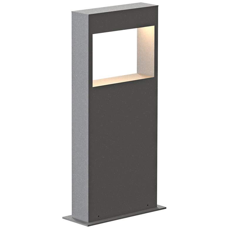 """Inside Out Light Frames 16"""" High Textured Gray LED Bollard"""