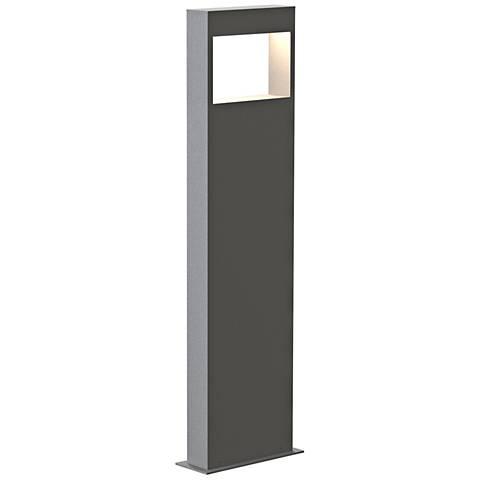 """Inside Out Light Frames™ 28"""" High Textured Gray LED Bollard"""