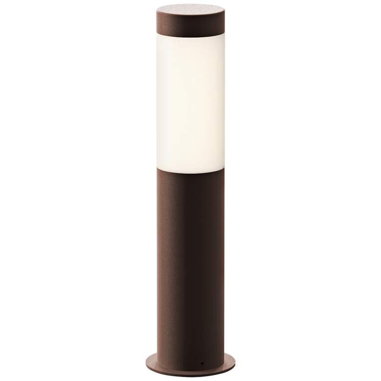 "Inside Out Round Column 16""H Textured Bronze LED Bollard"