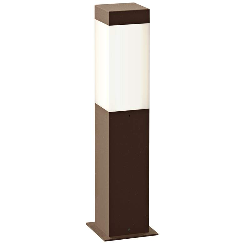 """Inside Out Square Column 16""""H Textured Bronze LED"""