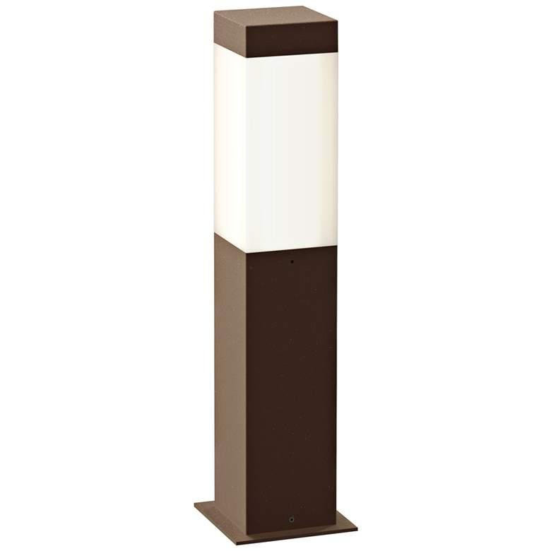 "Inside Out Square Column 16""H Textured Bronze LED Bollard"