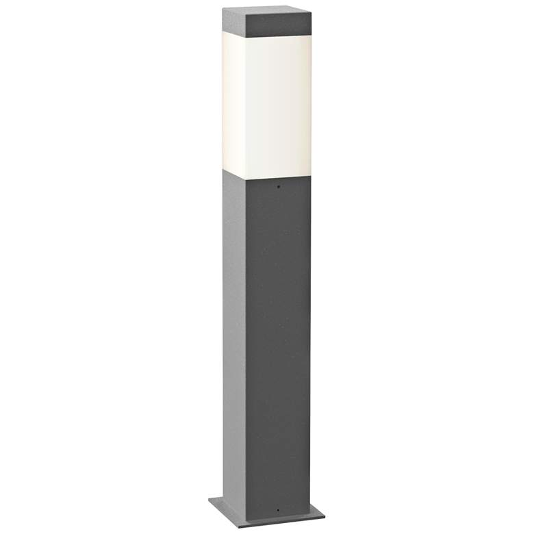 """Inside Out Square Column 22""""H Textured Gray LED"""