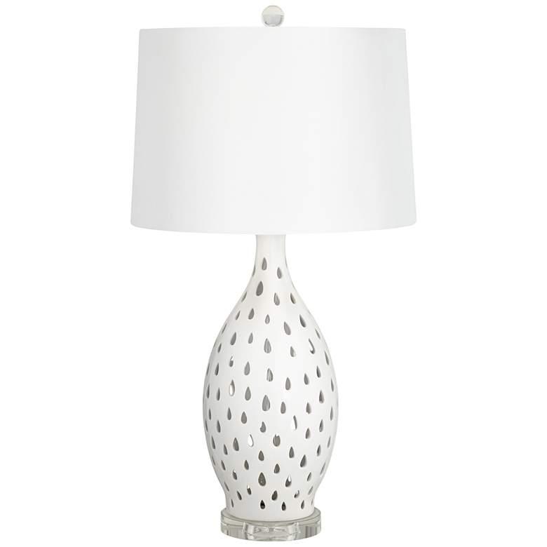 Kathy Ireland Coral Coast White Ceramic Table Lamp