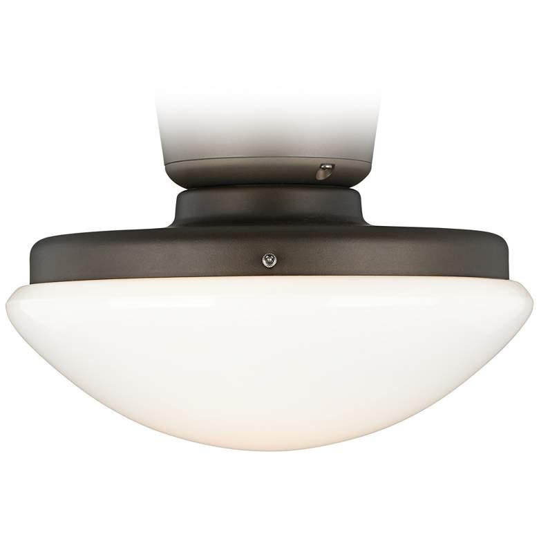 Opal Glass Dome Pull Chain LED Ceiling Fan Light Kit ...