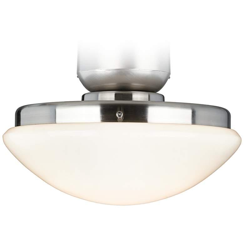 Brushed Nickel Pull-Chain LED Ceiling Fan Light Kit