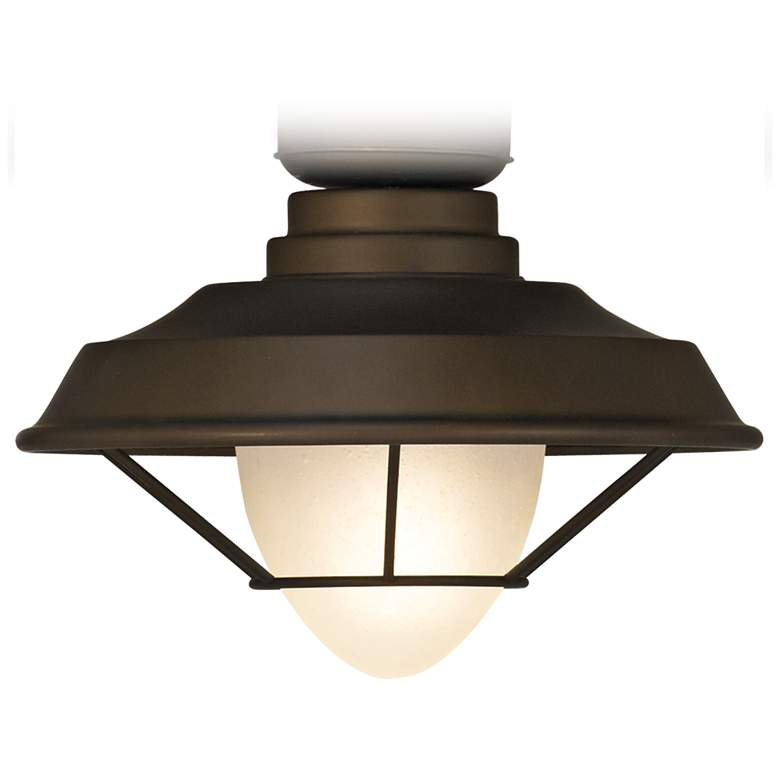 Casa Vieja Bronze Outdoor LED Ceiling Fan Light