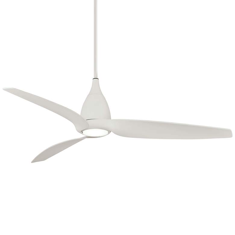 "60"" Minka Aire Tear Flat White LED Ceiling Fan"