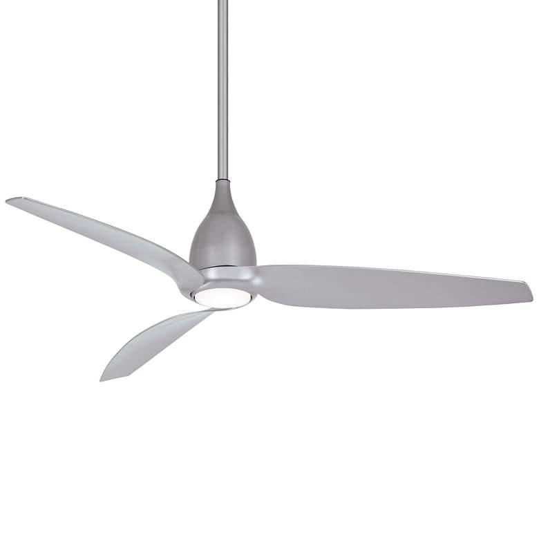 """60"""" Minka Aire Tear Silver LED Ceiling Fan"""