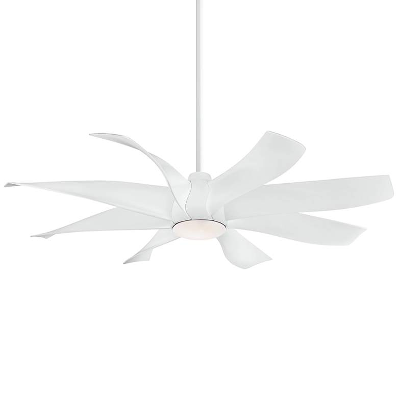 """60"""" Minka Aire Dream Star White LED Ceiling Fan"""