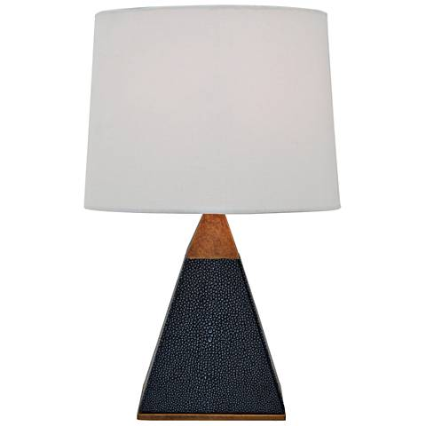 """Port 68 Cairo 16"""" High Gray Pyramid Accent Table Lamp"""