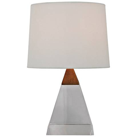 """Port 68 Cairo 16"""" High Crystal Pyramid Accent Table Lamp"""