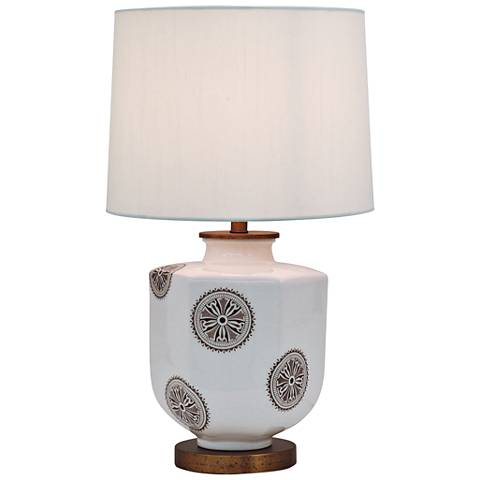 Port 68 Temba Brown Porcelain Accent Table Lamp