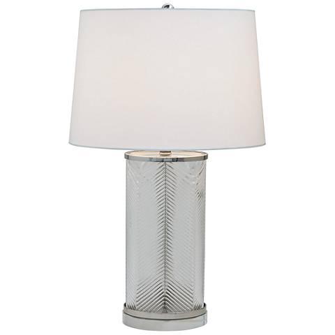 Port 68 Westwood Herringbone Glass and Nickel Table Lamp