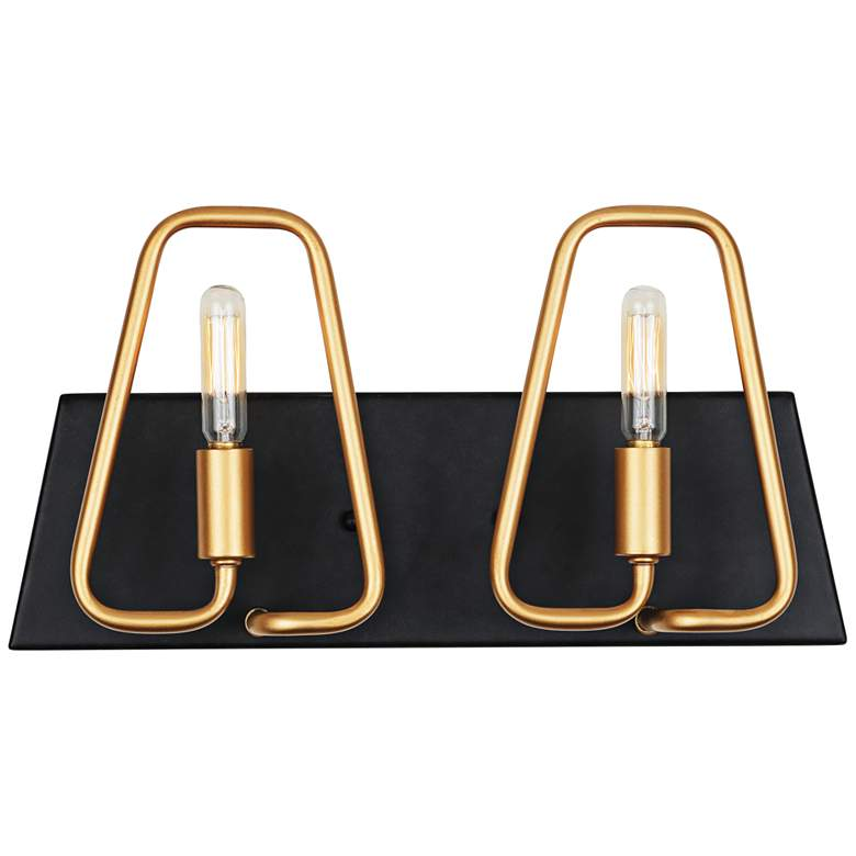 """Triangulo 8"""" High 2-Light Aged Gold and Carbon"""