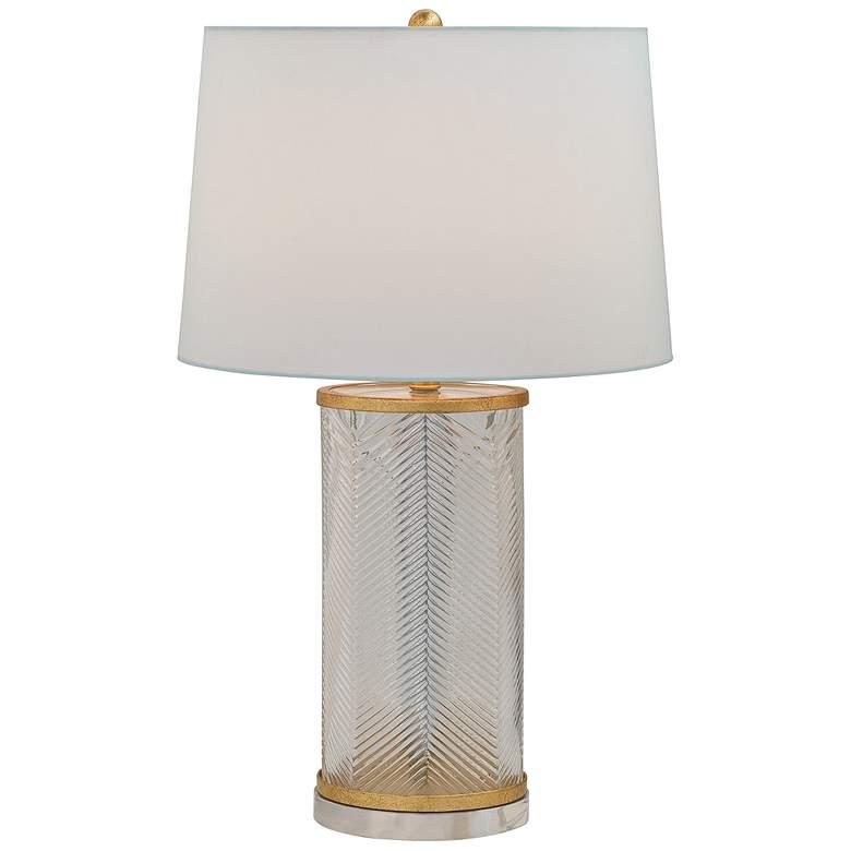 Port 68 Westwood Herringbone Glass and Gold Table Lamp