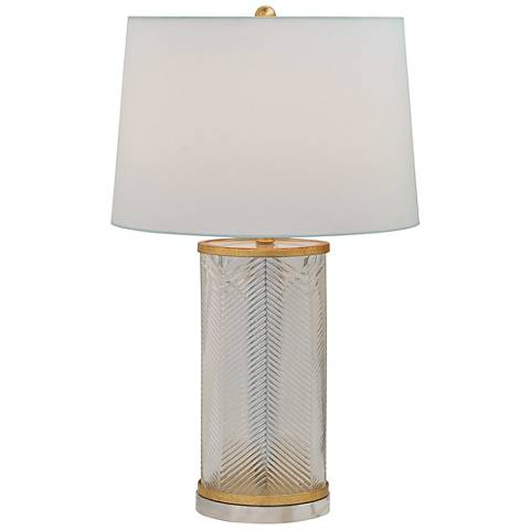 Port 68 Westwood Herringbone Glass and Gold Table Lamp