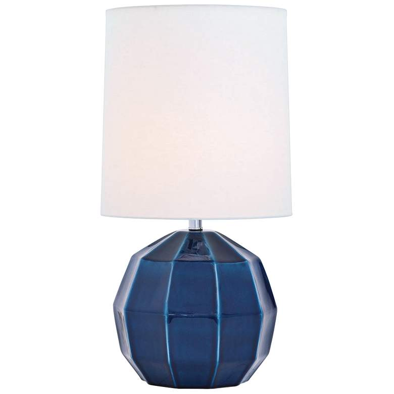 Port 68 Harry Blue Geodome-Shaped Porcelain Table Lamp