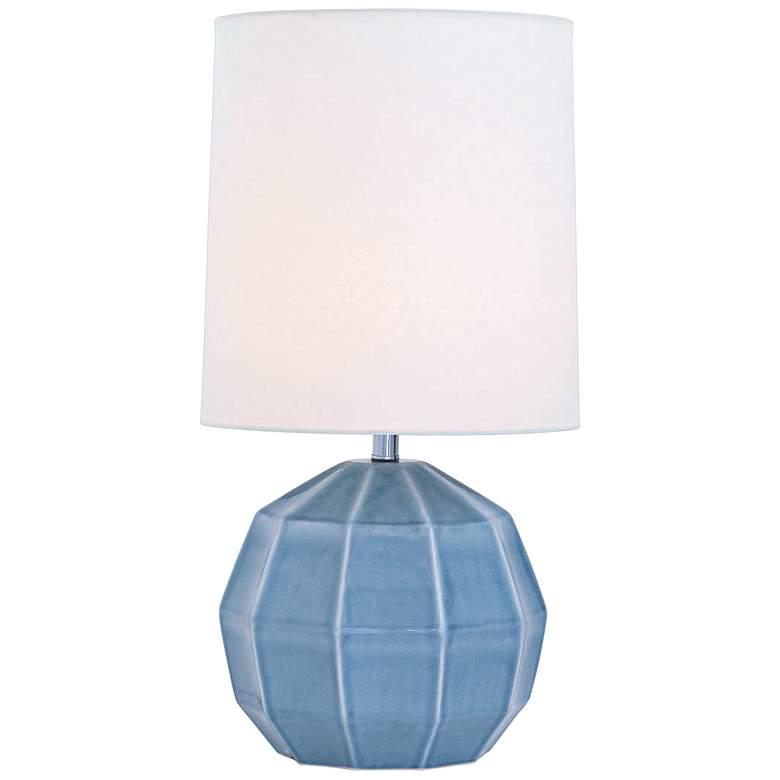 Port 68 Harry Smoke Geodome-Shaped Porcelain Table Lamp