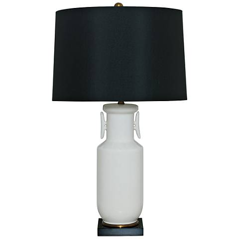 Port 68 Song Cream White Asian-Influenced Table Lamp