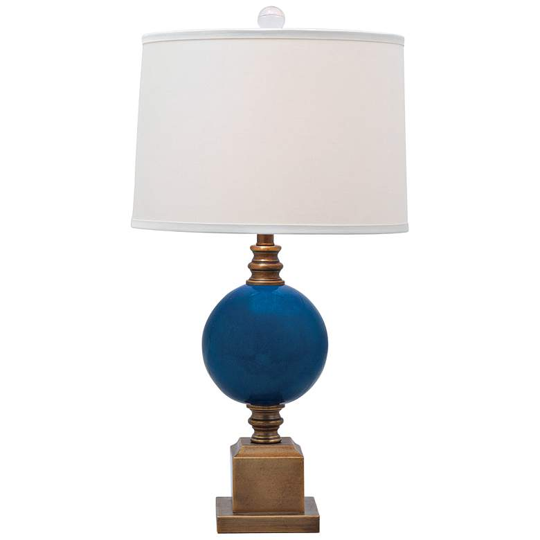 Port 68 Rutherford Aged Brass and Turquoise Table Lamp