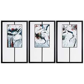 Winter Dance 32 High 3 Piece Framed Wall Art Set
