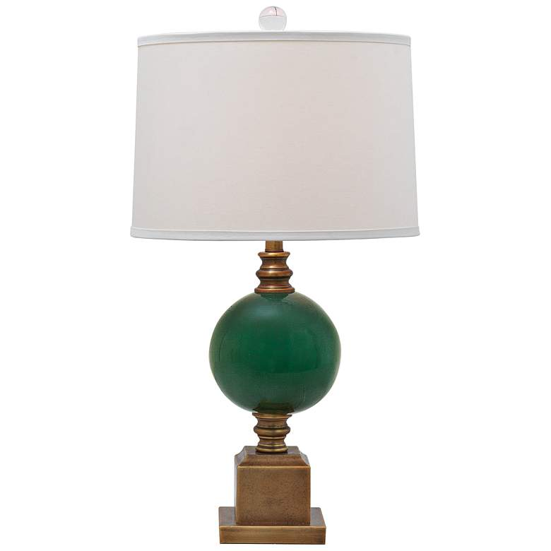 Port 68 Rutherford Aged Brass and Emerald Table Lamp