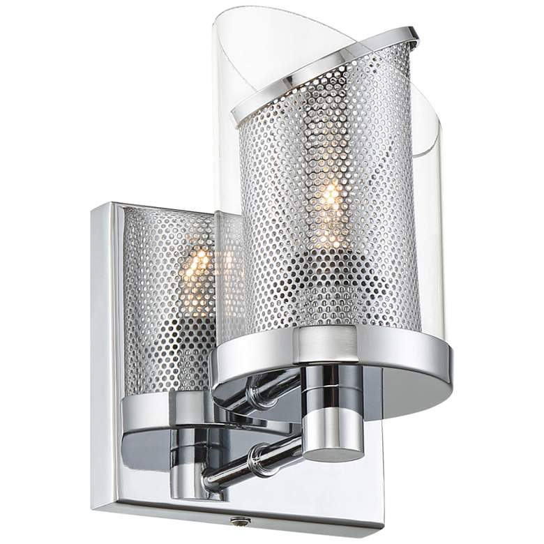 """Varaluz So Inclined 7 1/2"""" High Chrome Wall Sconce"""