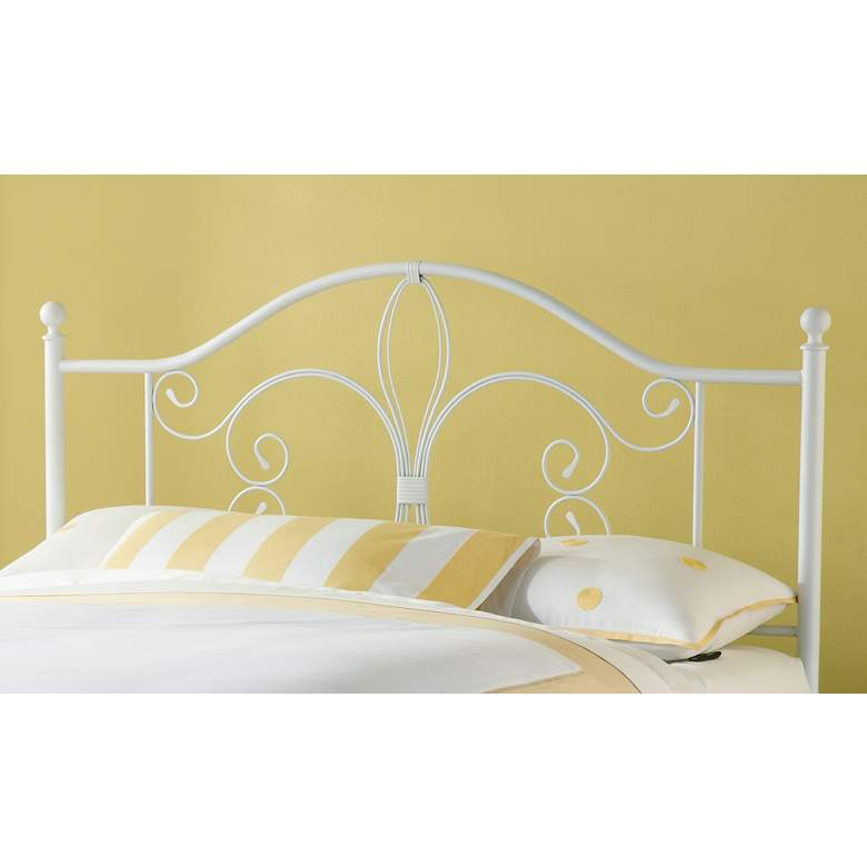 Hillsdale Ruby Textured White Metal Full/Queen Headboard