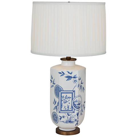 Port 68 Temba Cream and Blue Porcelain Table Lamp