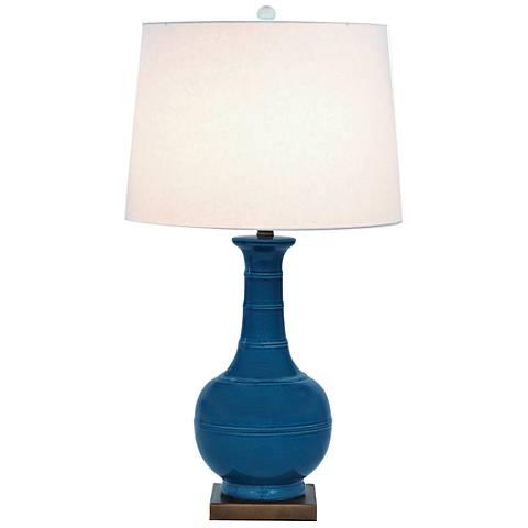 Port 68 Kelly Royal Blue Porcelain Table Lamp