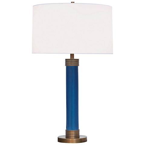 Port 68 Dearborn Royal Blue Column Porcelain Table Lamp