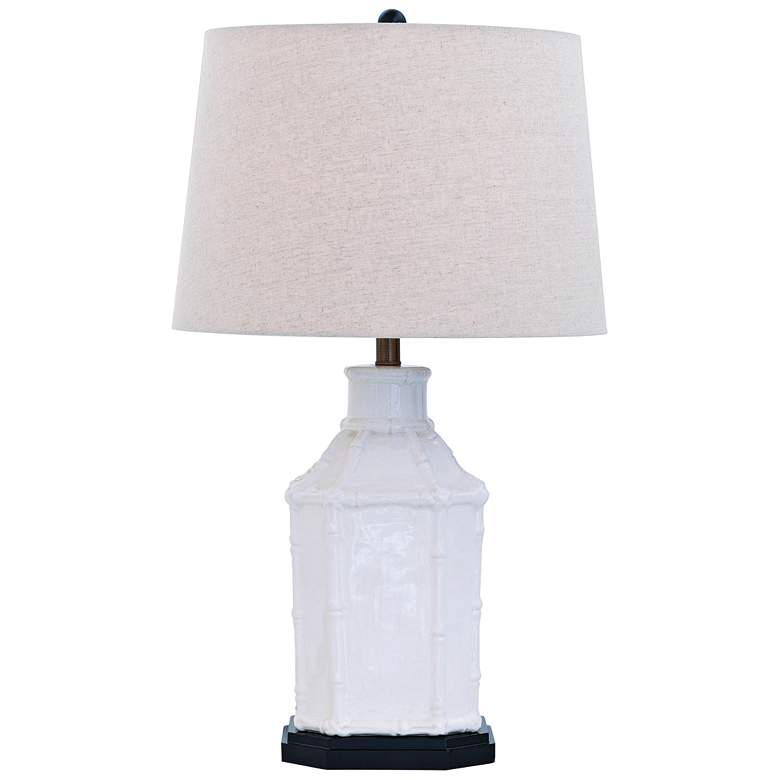 Port 68 Amelia Cream Birdcage Bamboo Porcelain Table Lamp