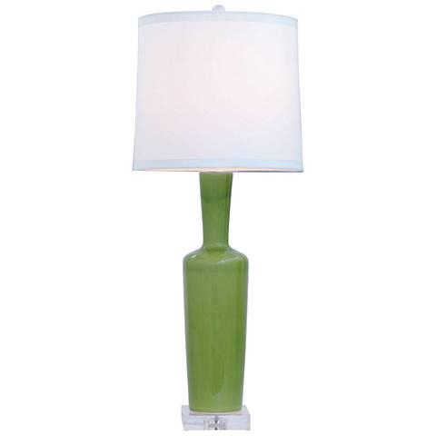 Port 68 Brentwood Apple Green Porcelain Table Lamp
