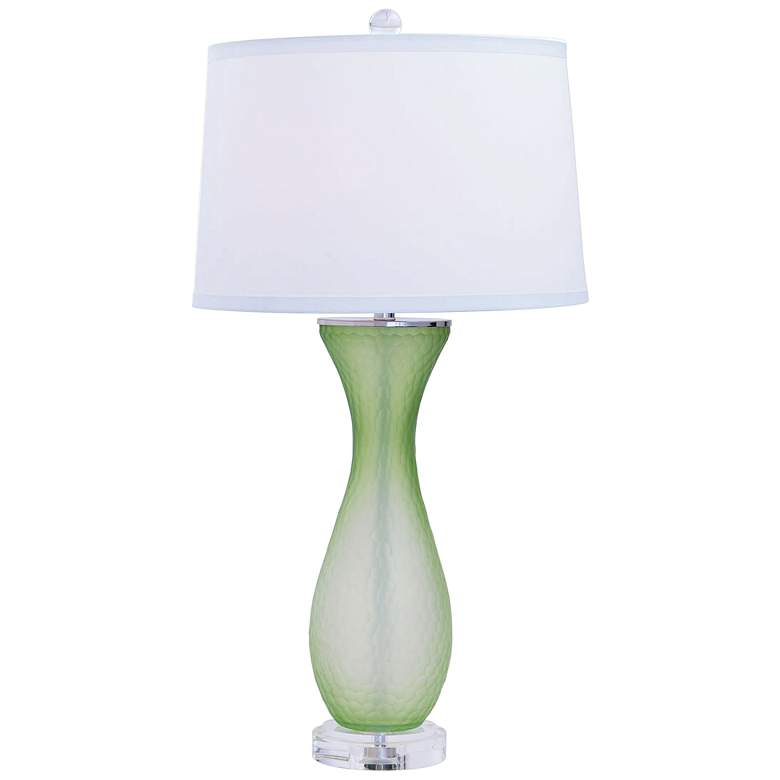 Port 68 Lakeview Green Glass Table Lamp