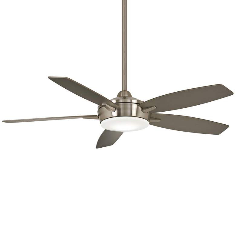 """52"""" Minka Aire Espace Brushed Nickel LED Ceiling Fan"""