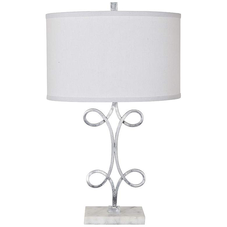 Crestview Collection Strata Silver Leaf Metal Table Lamp
