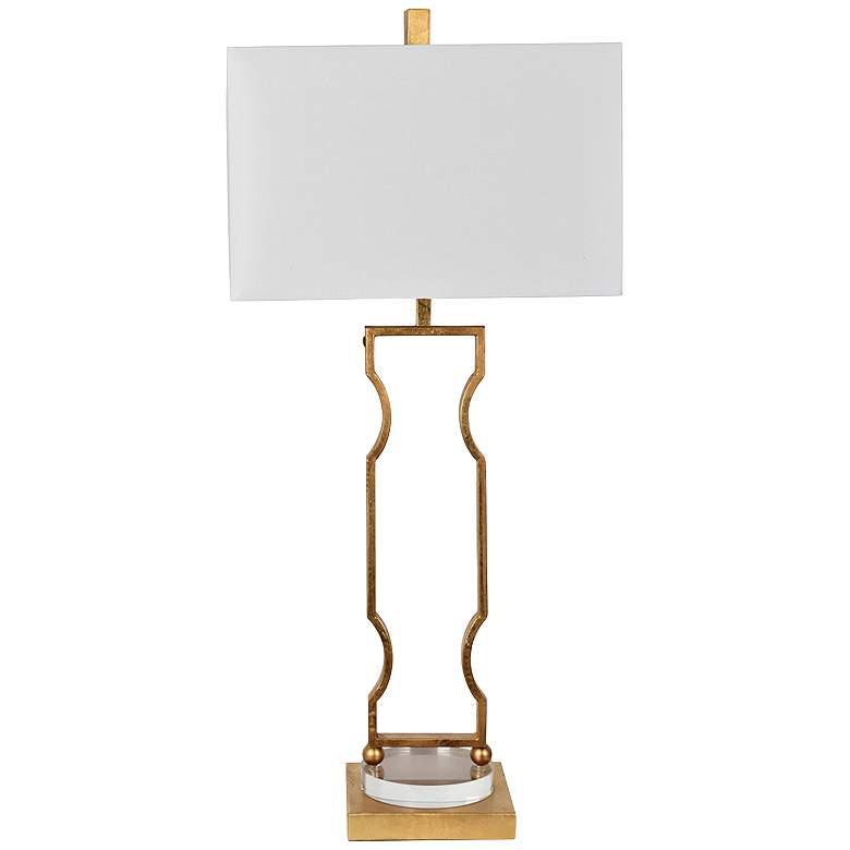 Crestview Collection Carlisle Gold Leaf Metal Table Lamp