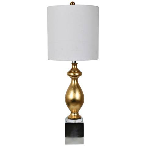 Crestview Collection Talbot Gold Leaf Metal Table Lamp