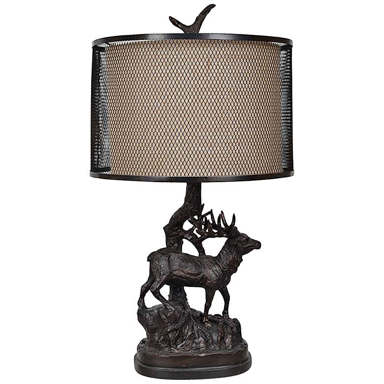 Crestview Collection Hunters Walk Resin Bronze Table Lamp