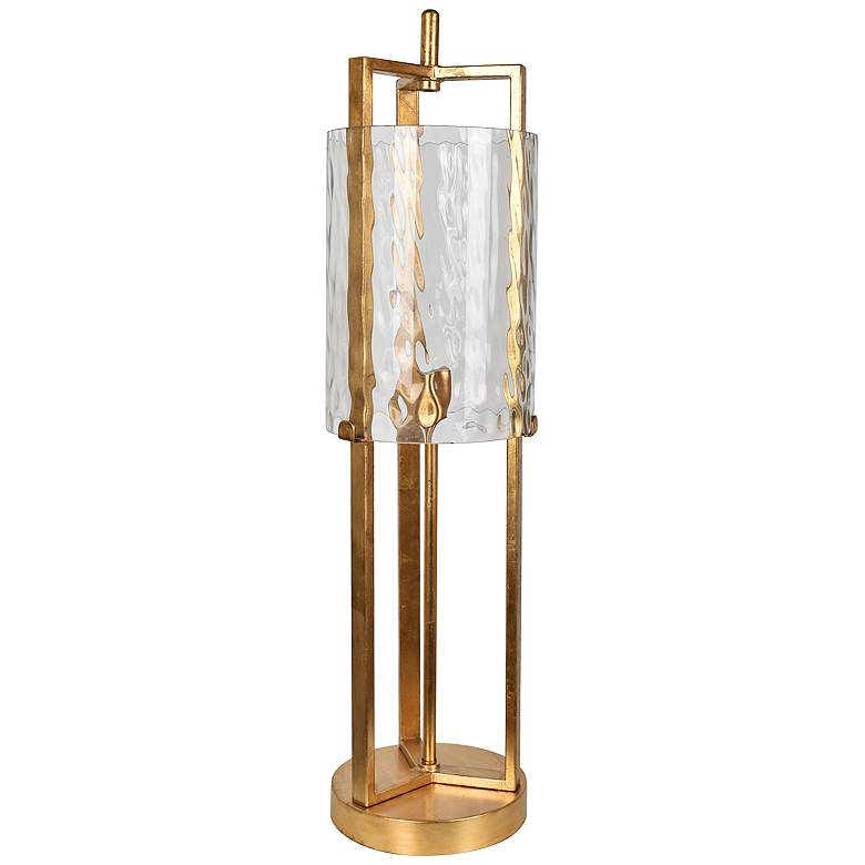 Crestview Collection Ethan Gold Leaf Metal Table Lamp