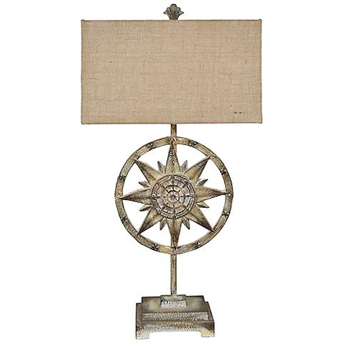 Crestview Collection Arlington Rustic White Table Lamp