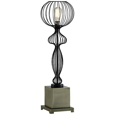 Crestview Collection Veneto Brass and Black Metal Table Lamp