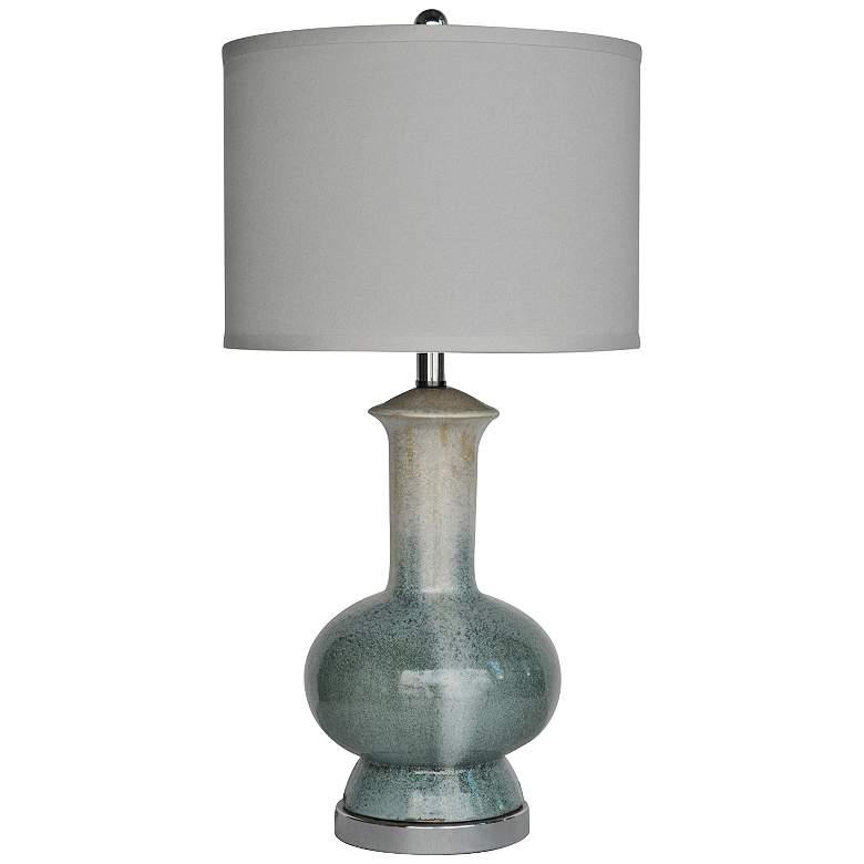 Crestview Collection Sea Breeze Blue Ceramic Table Lamp