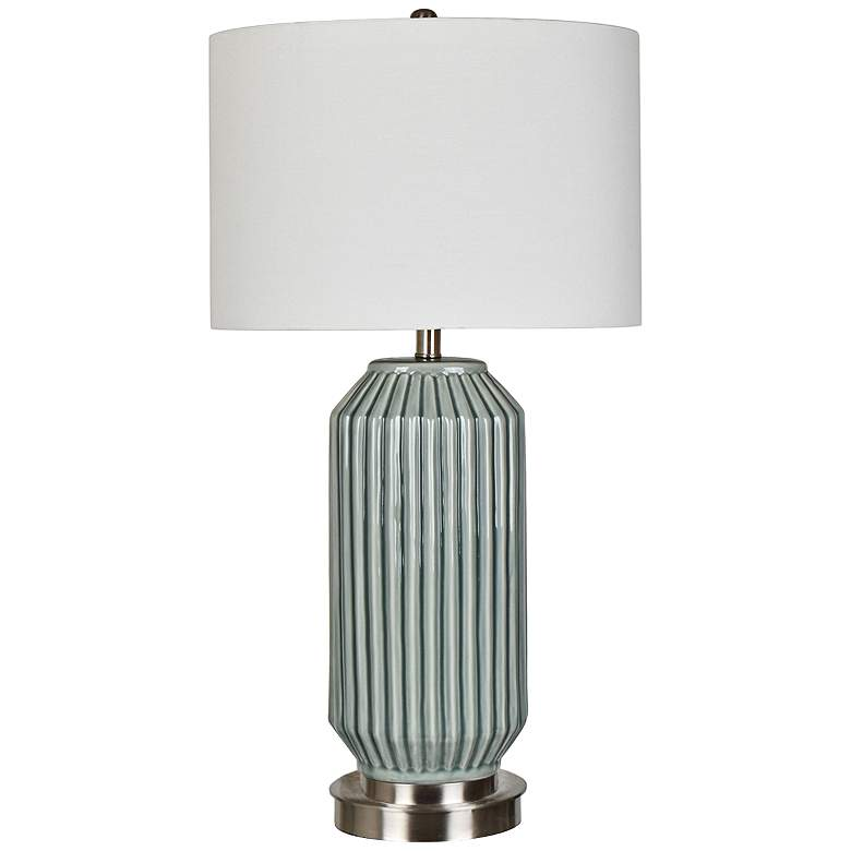 Crestview Collection Paige Blue and Gray Ceramic Table Lamp