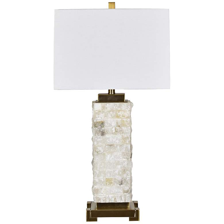 Crestview Collection Aberdeen Stacked Stone Table Lamp