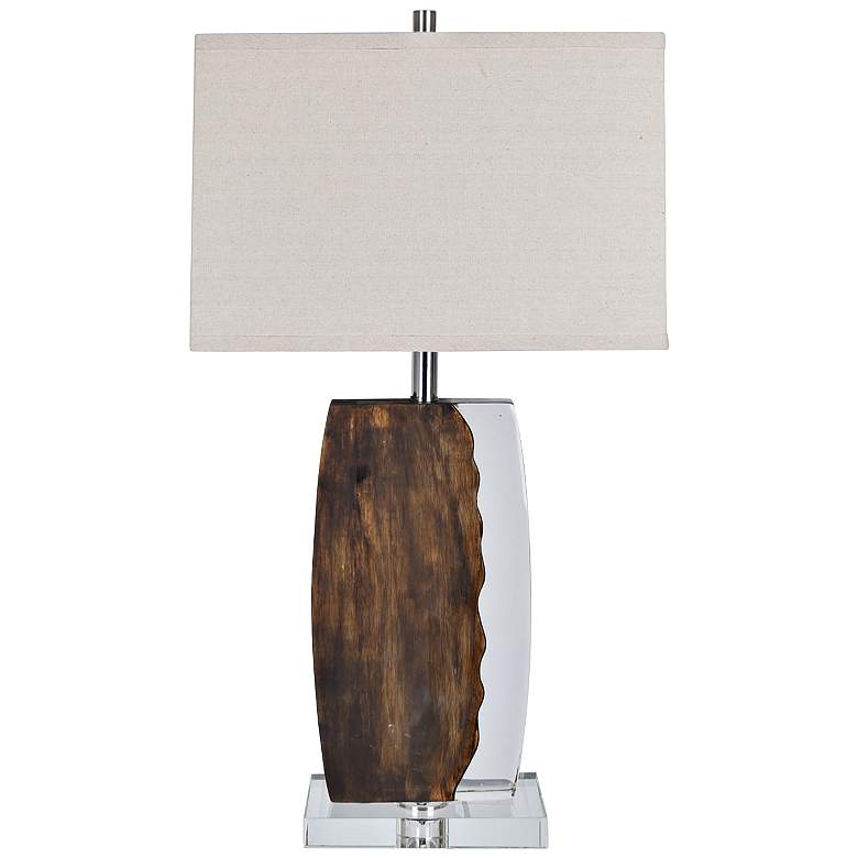 Crestview Collection Chaco Wood and Clear Table Lamp