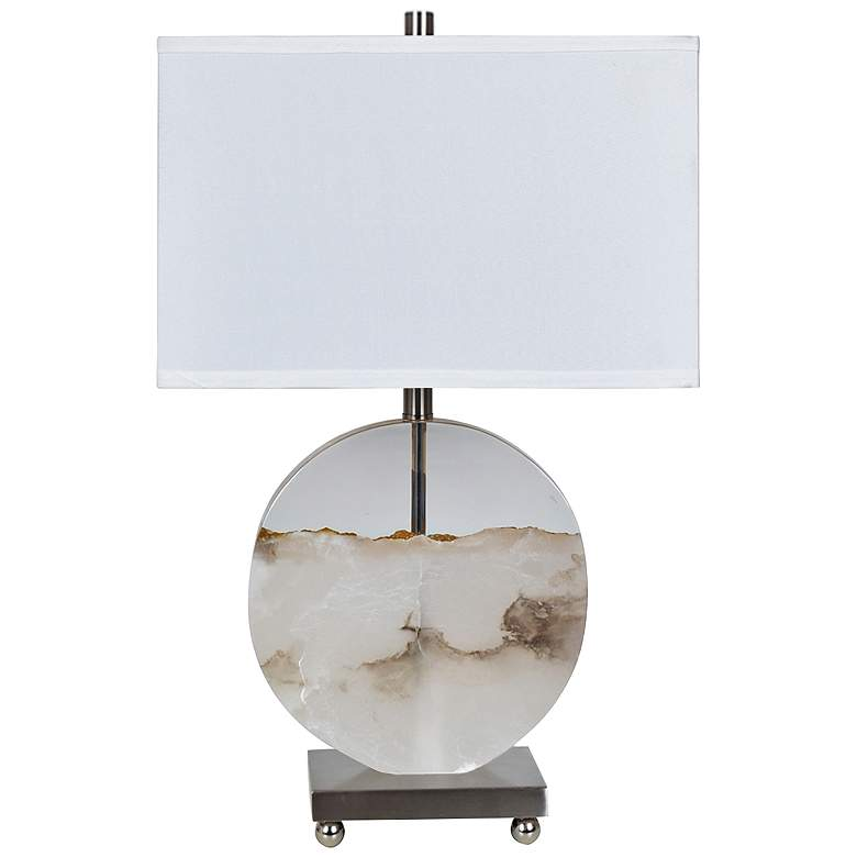 Crestview Collection Canyon Alabaster and Clear Table Lamp
