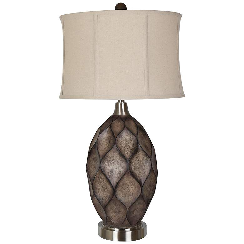 Crestview Collection Kimball Carved Wood Table Lamp