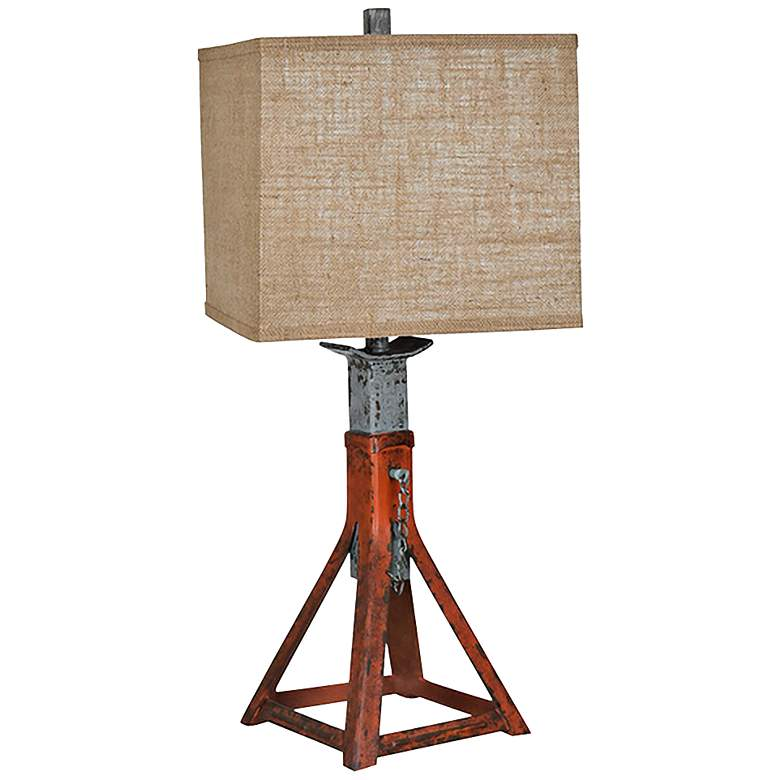 Crestview Collection Jackstay Rustic Red Table Lamp