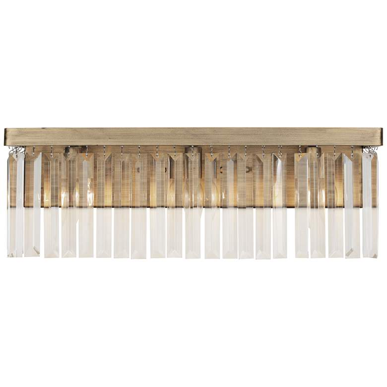 "Varaluz Social Club 21 1/2""W 3-Light Havana Gold Bath Light"